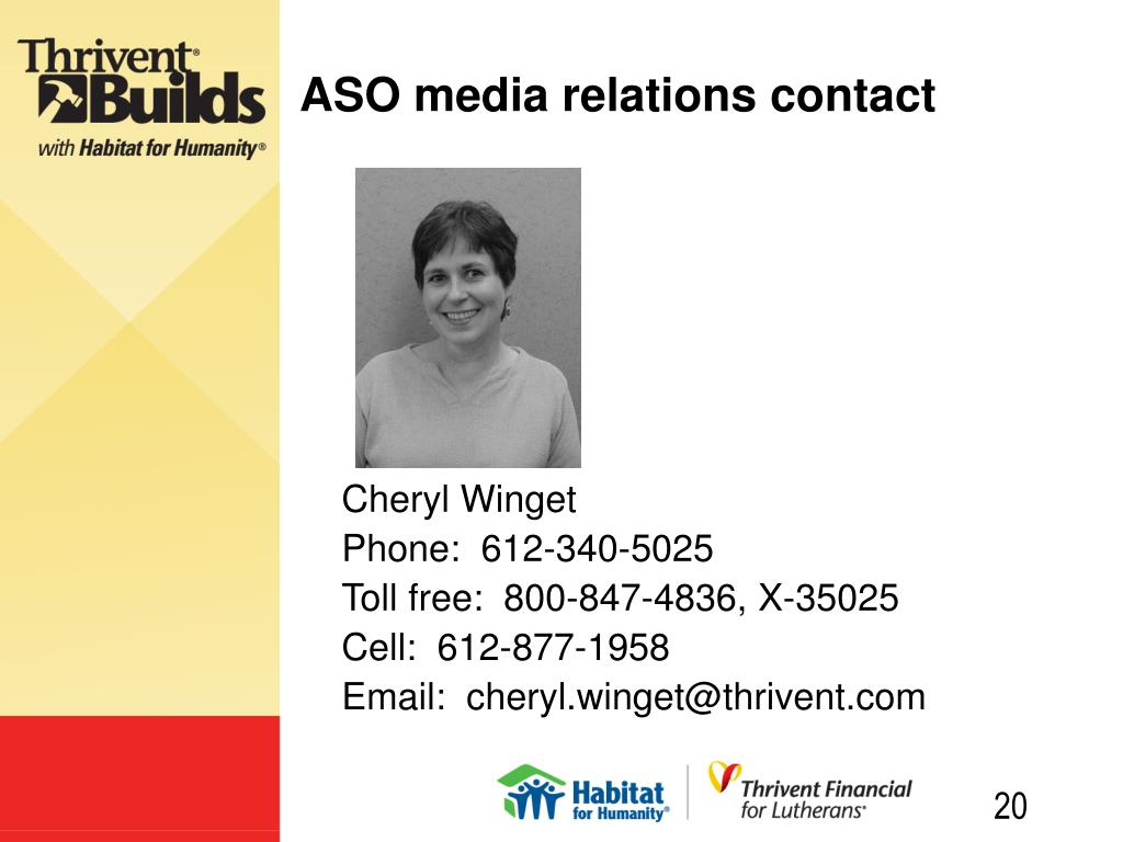 ASO media relations contact
