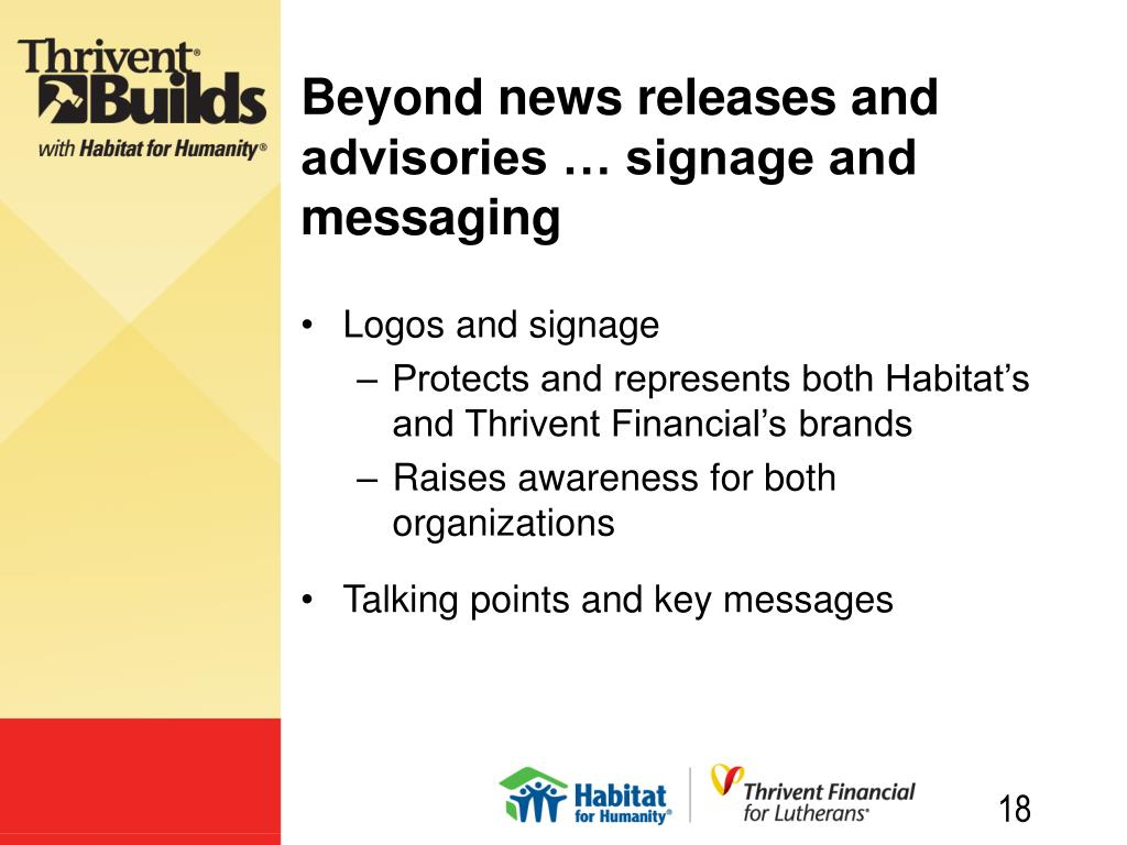 Beyond news releases and advisories … signage and messaging