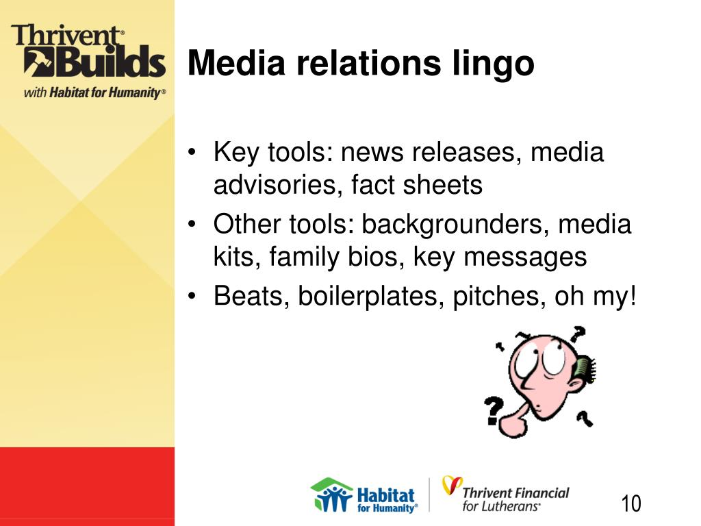Media relations lingo