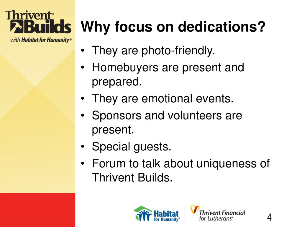 Why focus on dedications?