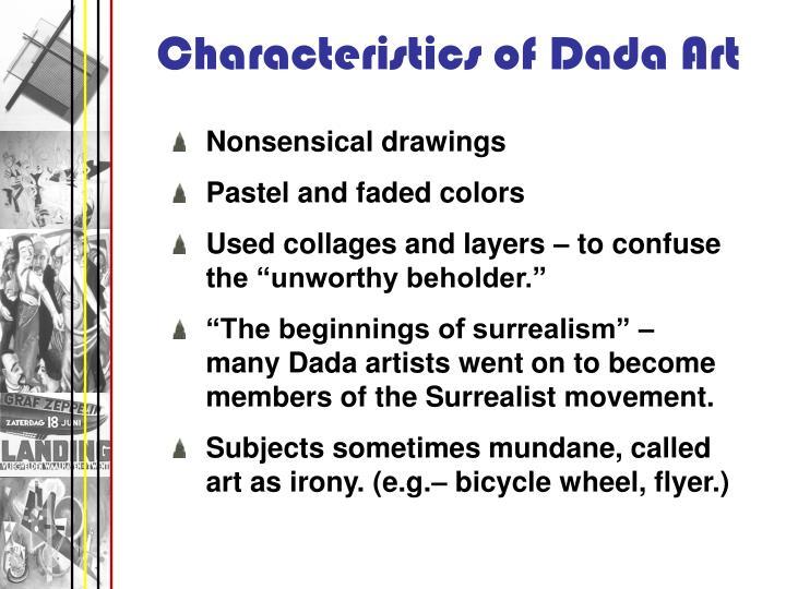 Characteristics of Dada Art