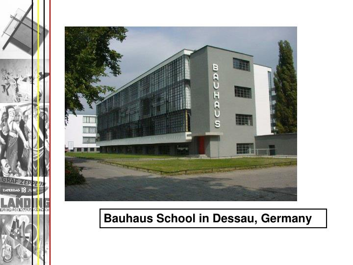 Bauhaus School in Dessau, Germany