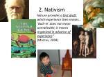 2 nativism