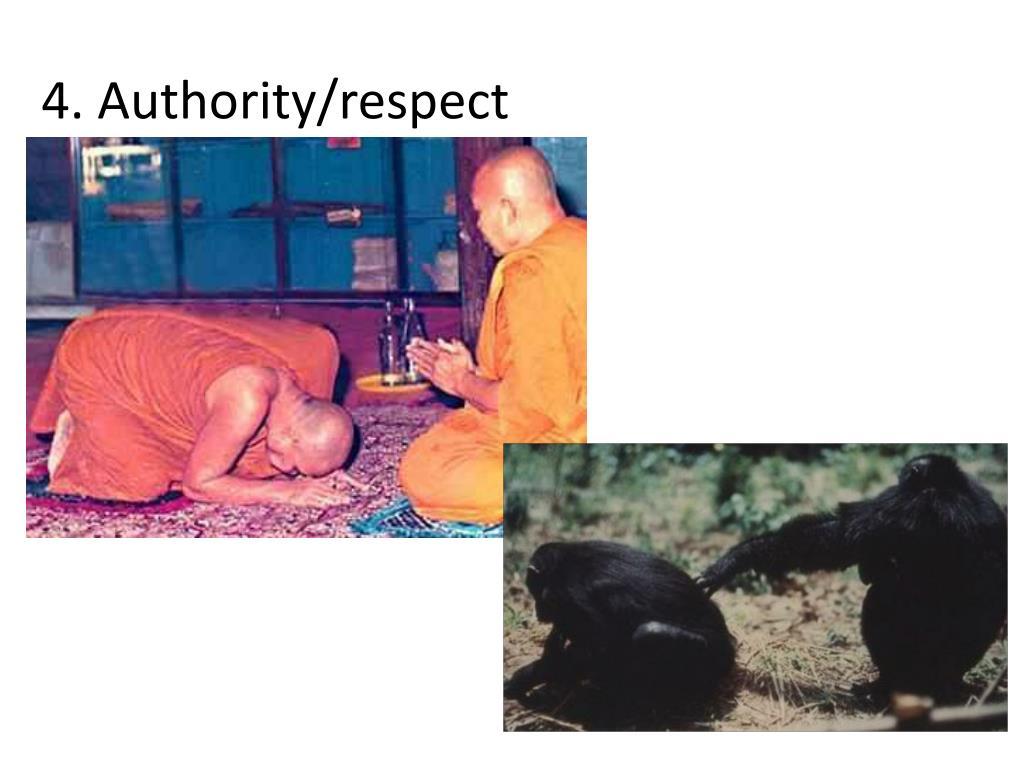 4. Authority/respect
