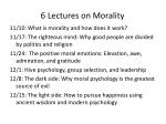 6 lectures on morality