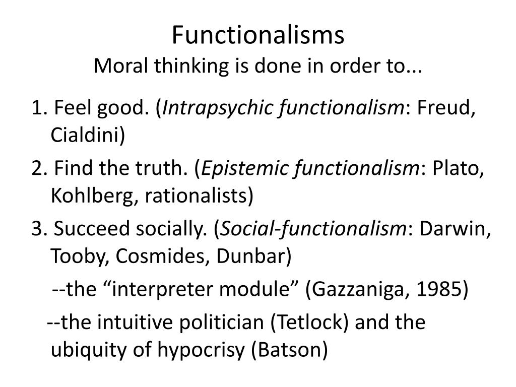 Functionalisms
