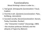functionalisms moral thinking is done in order to