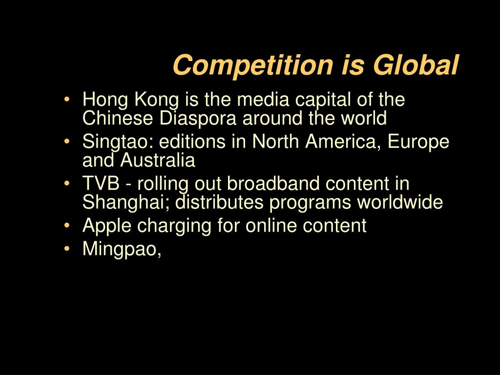 Competition is Global