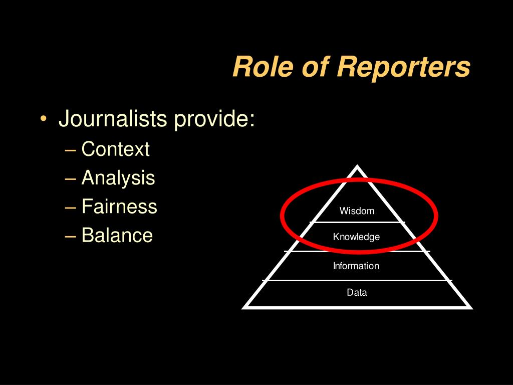 Role of Reporters
