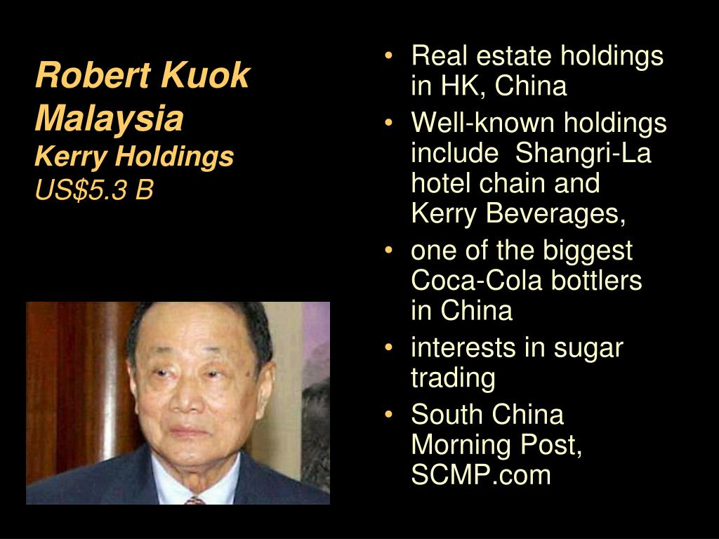 Real estate holdings in HK, China