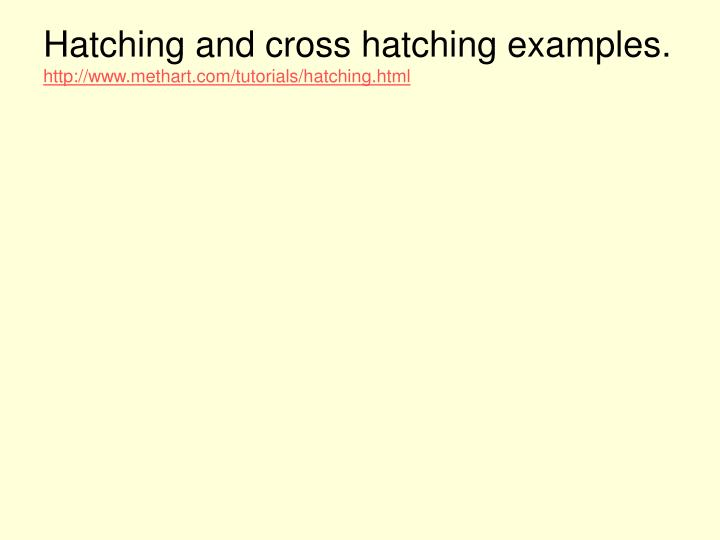 Hatching and cross hatching examples.