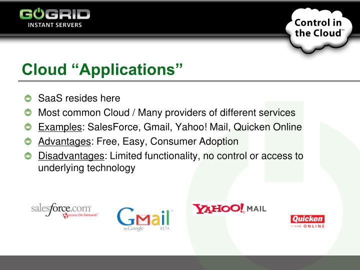 "Cloud ""Applications"""