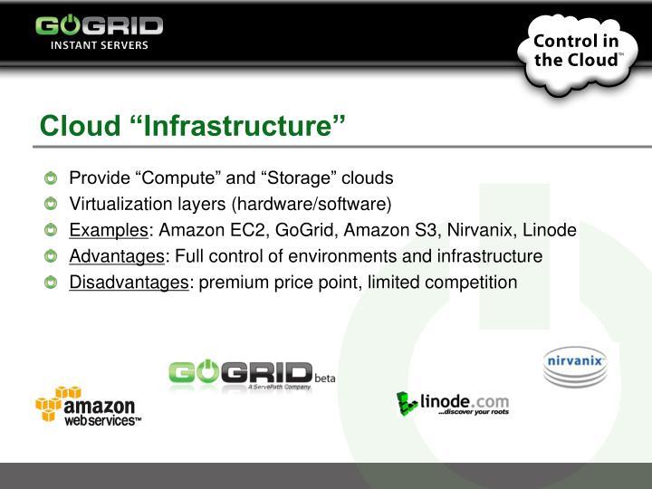 "Cloud ""Infrastructure"""