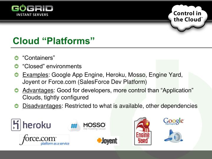 "Cloud ""Platforms"""