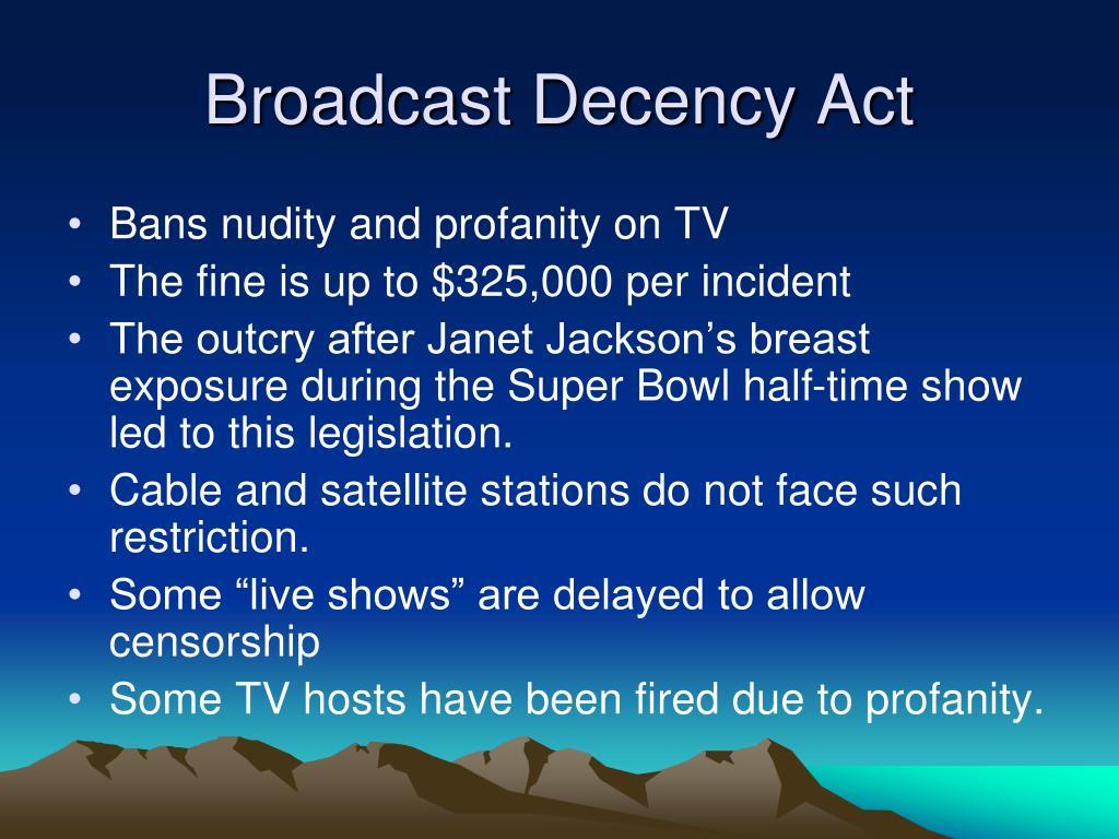 Broadcast Decency Act