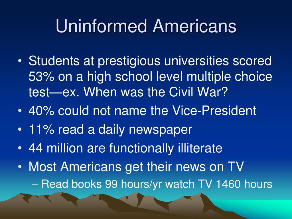 Uninformed Americans
