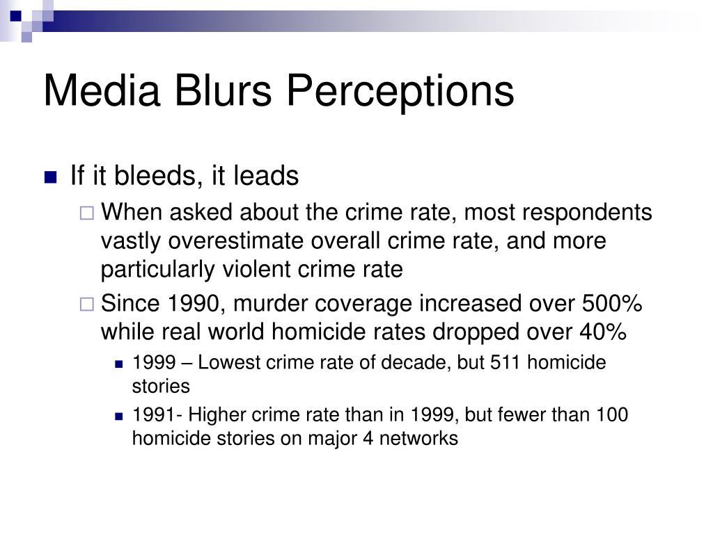 Media Blurs Perceptions