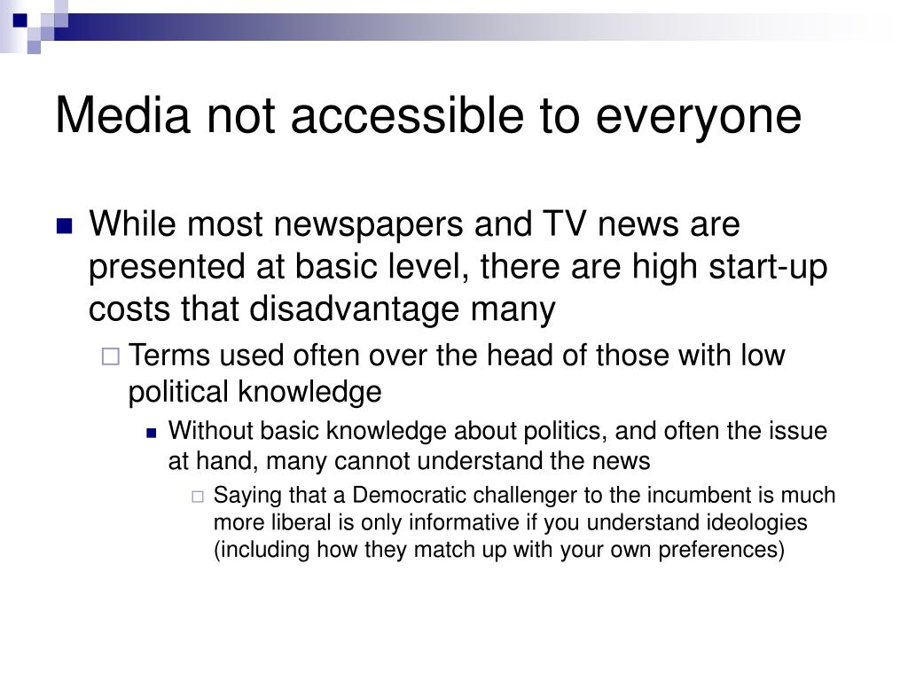 Media not accessible to everyone