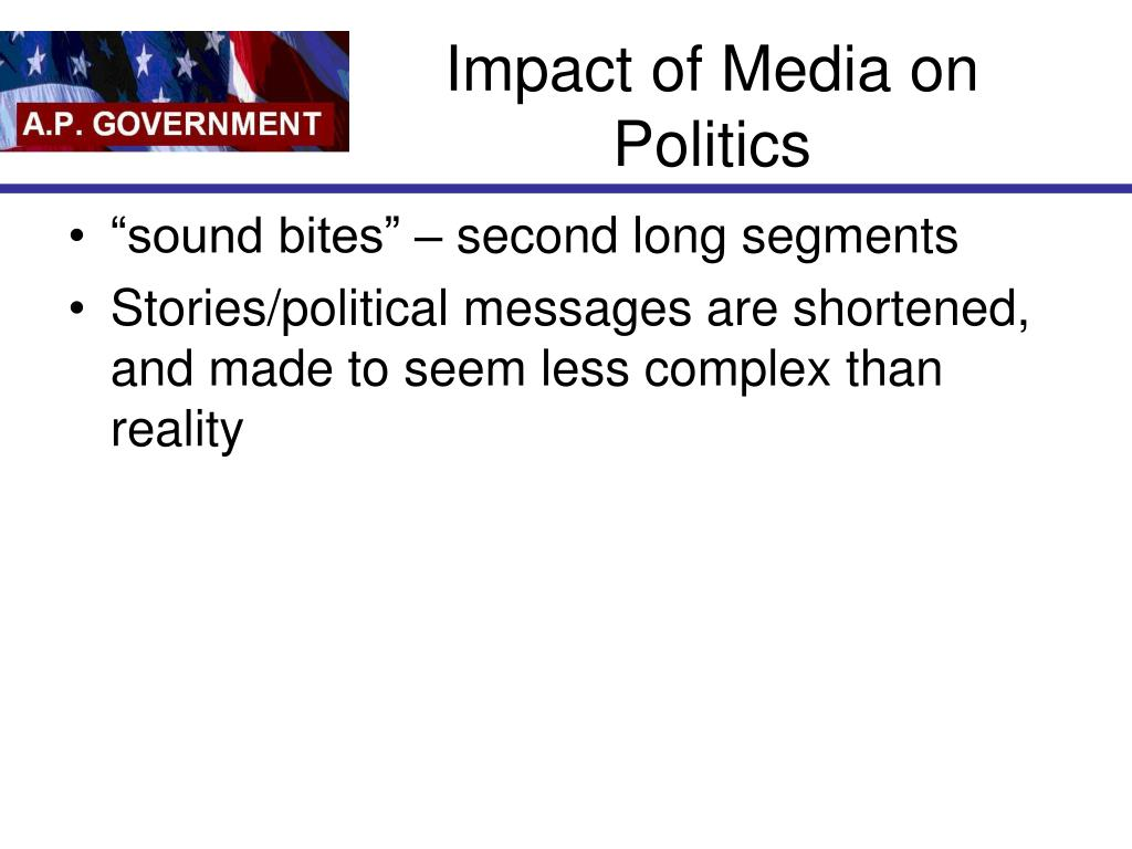 Impact of Media on Politics