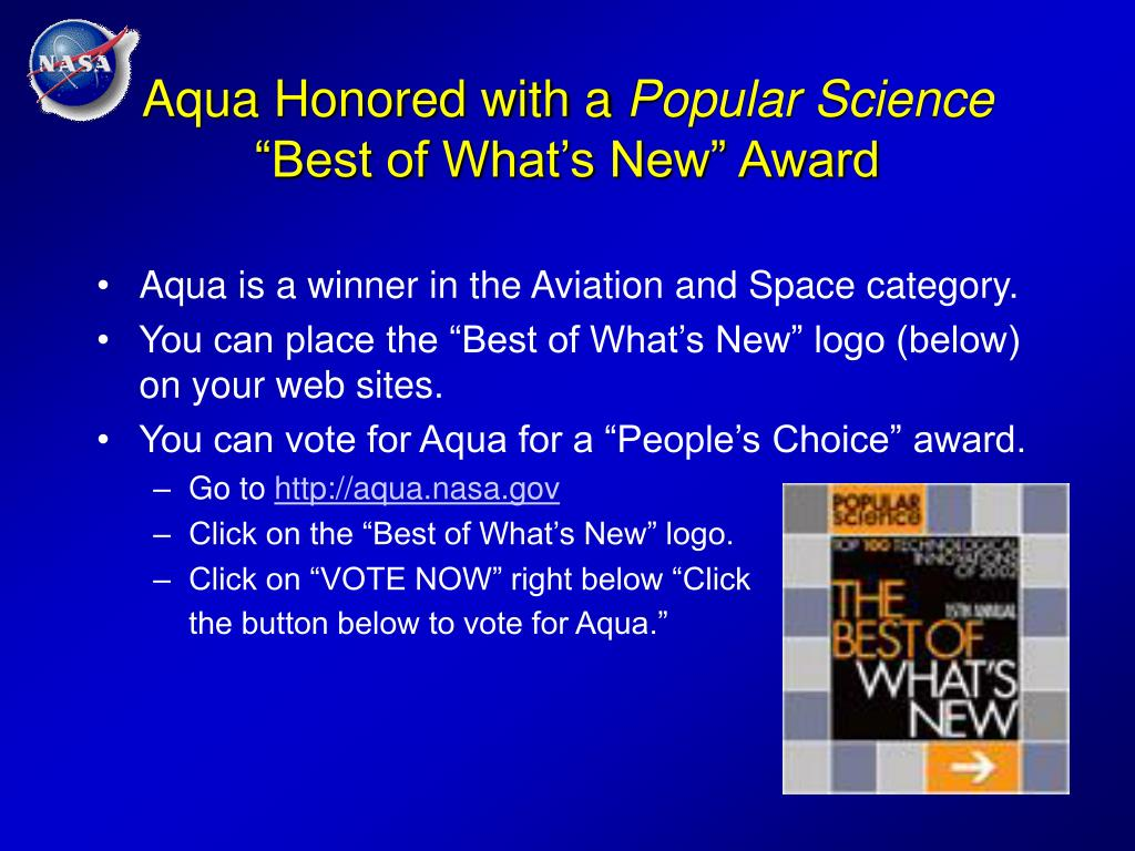 Aqua Honored with a