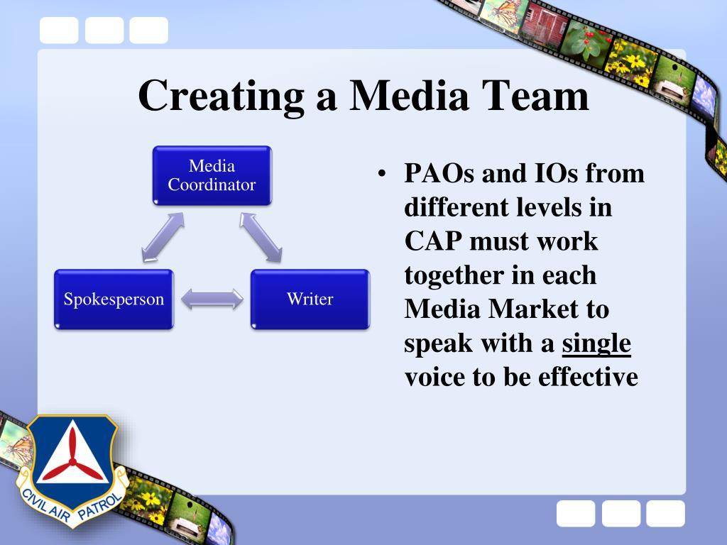 Creating a Media Team