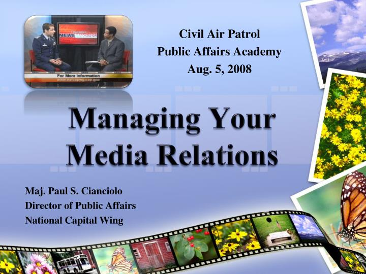 Managing your media relations