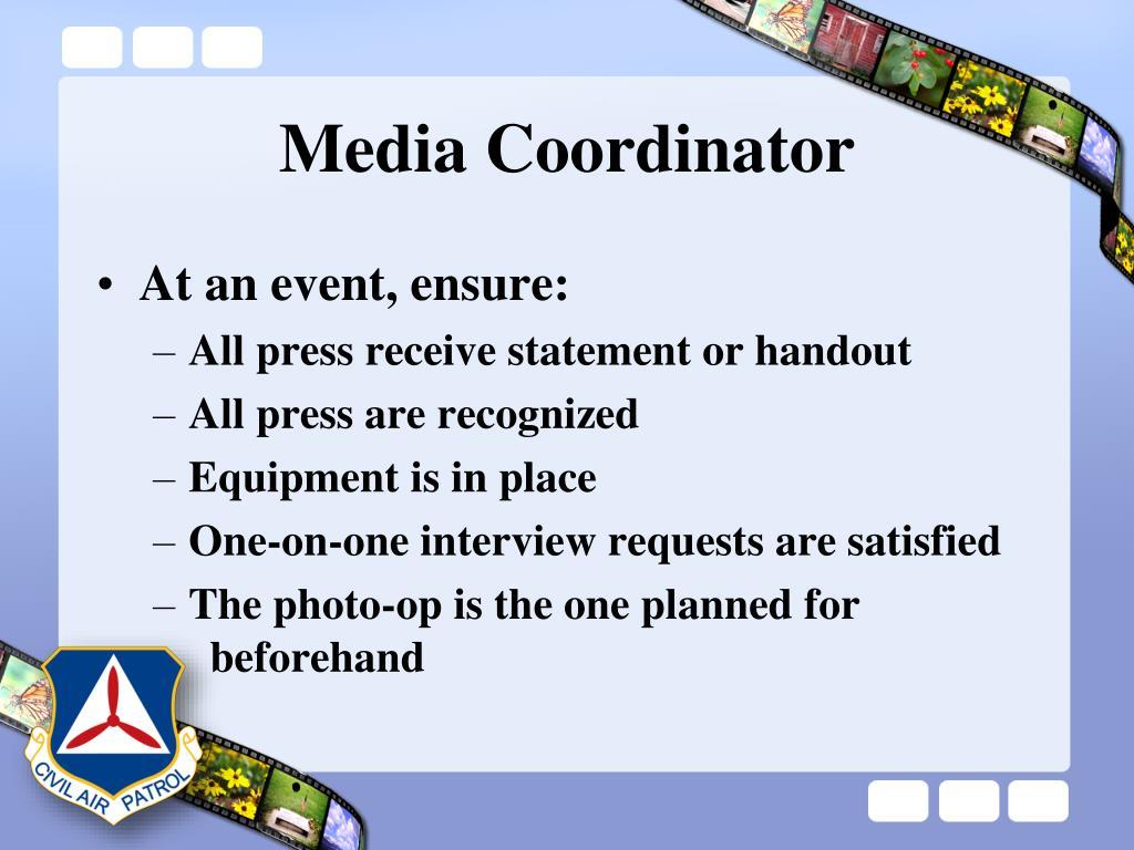 Media Coordinator