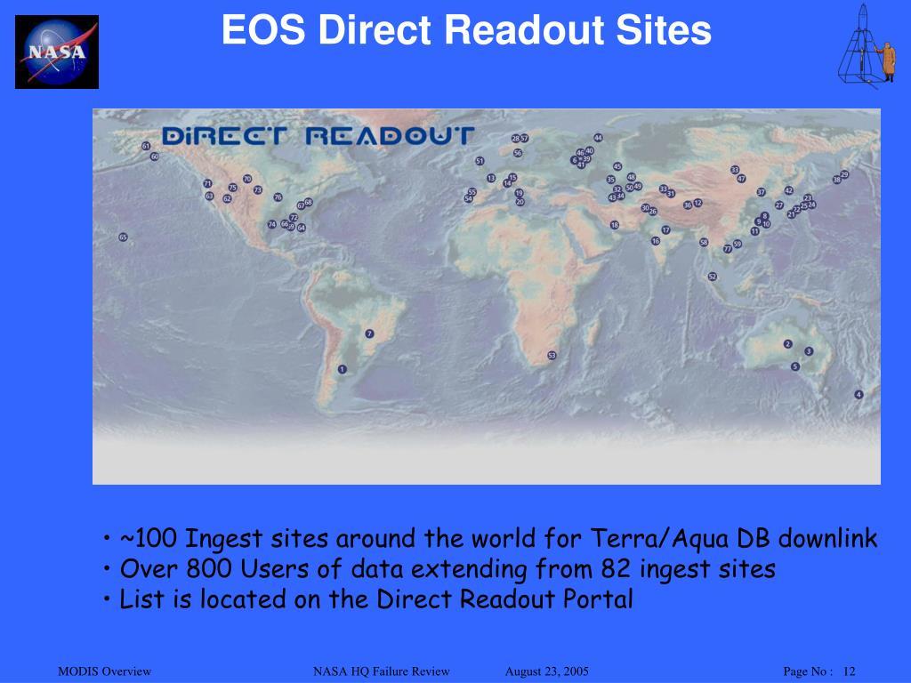 EOS Direct Readout Sites