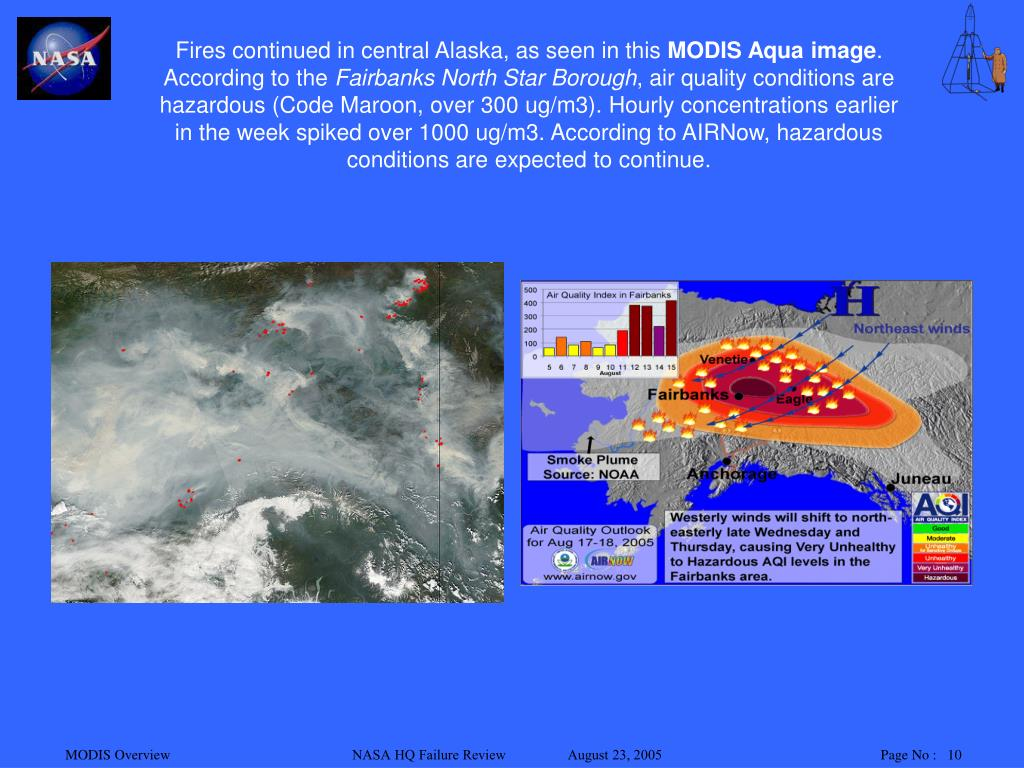 Fires continued in central Alaska, as seen in this