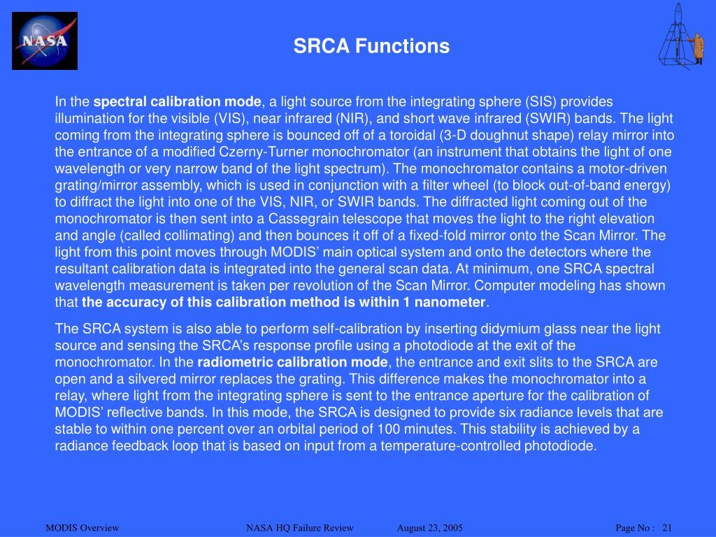 SRCA Functions