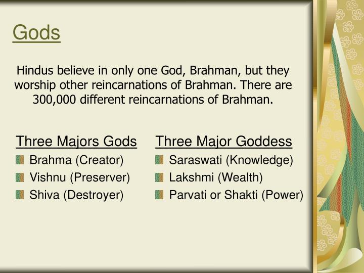 Three Majors Gods