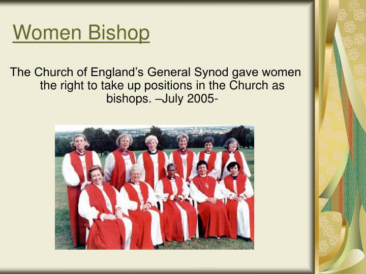 Women Bishop
