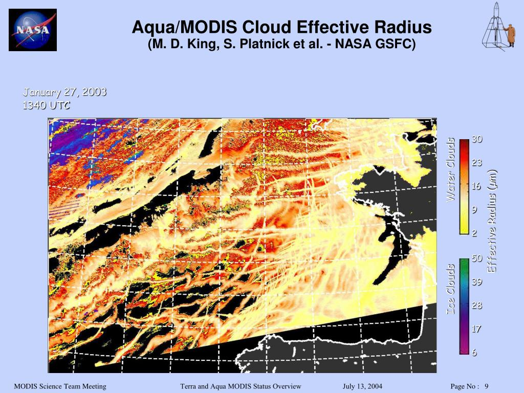 Aqua/MODIS Cloud Effective Radius
