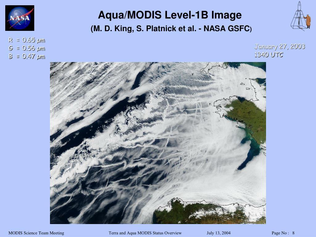Aqua/MODIS Level-1B Image