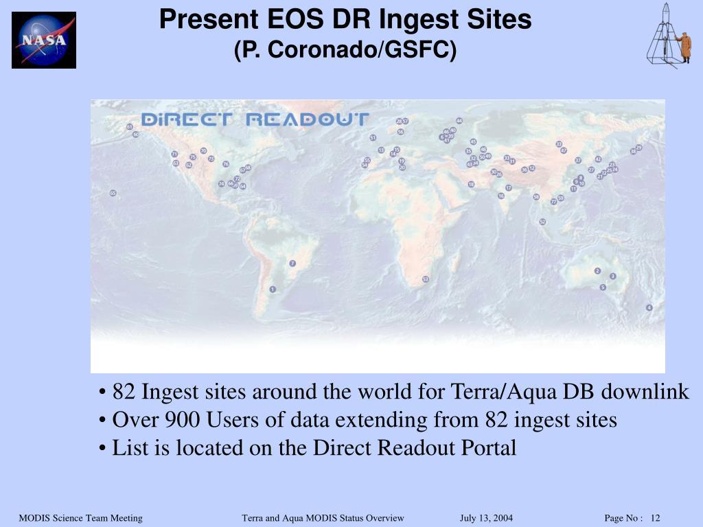Present EOS DR Ingest Sites