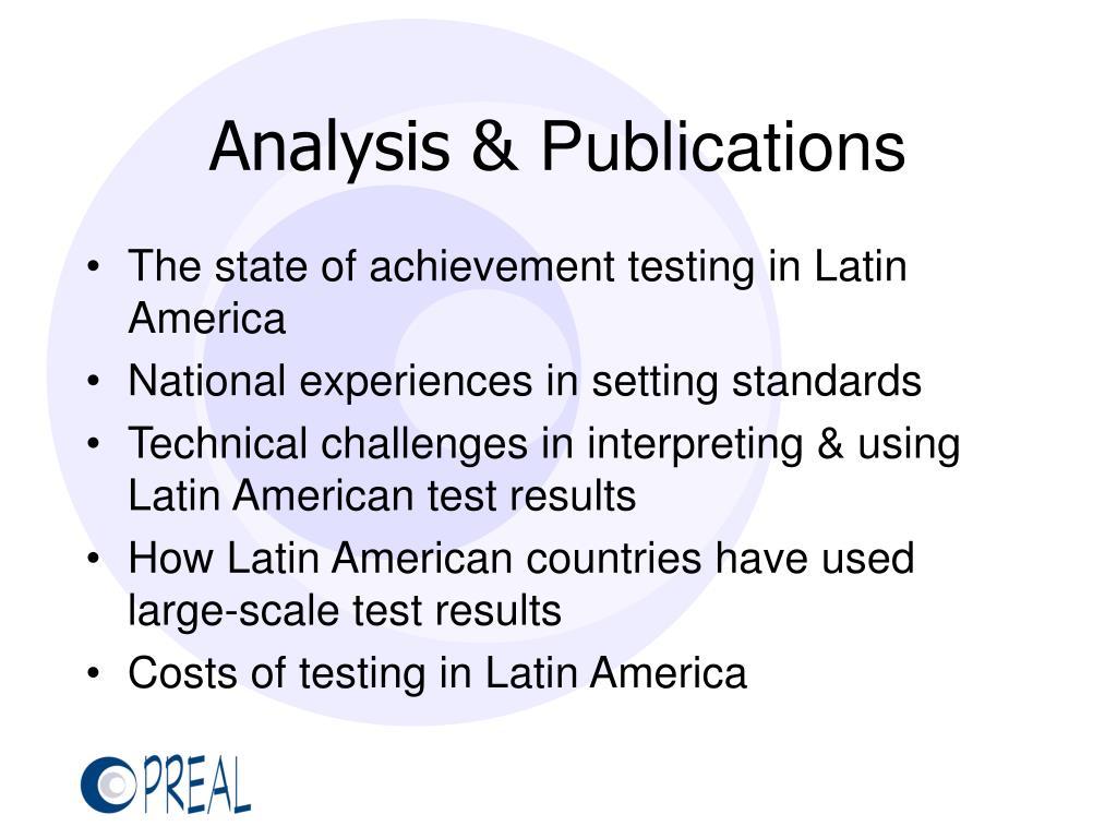 Analysis &