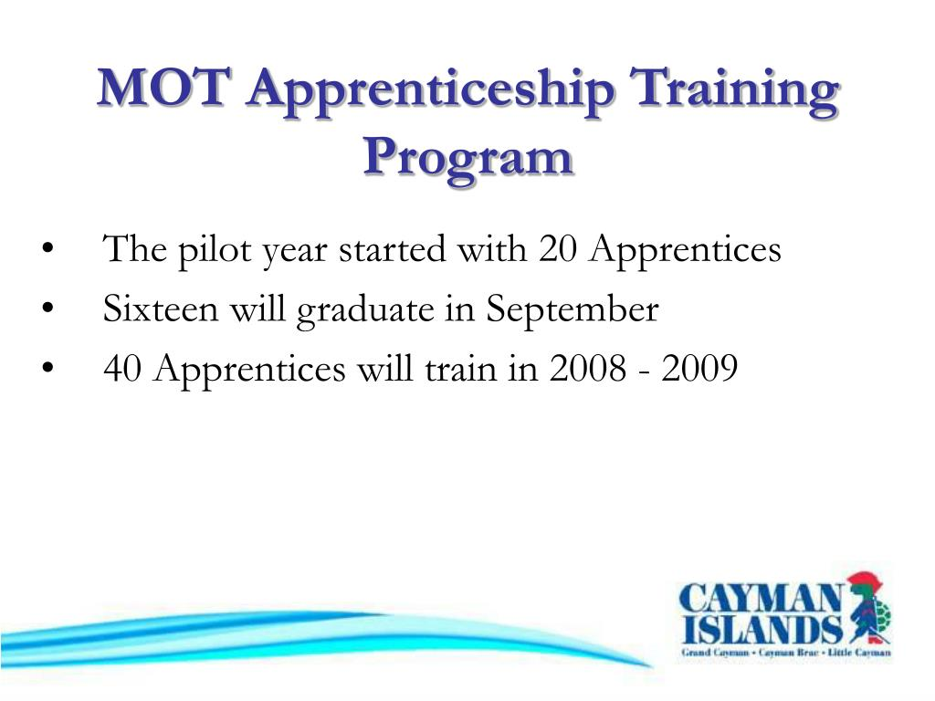 MOT Apprenticeship Training Program