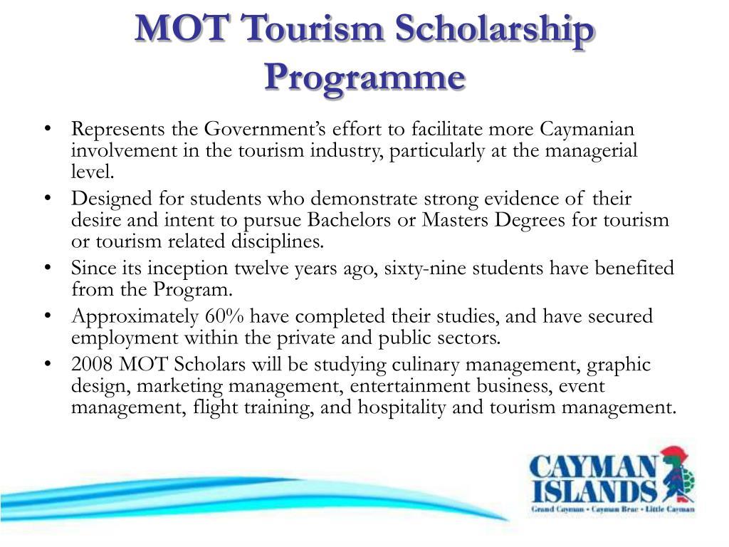 MOT Tourism Scholarship Programme