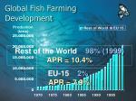 global fish farming development