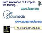 more information on european fish farming