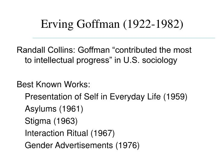 erving goffman theories of communication