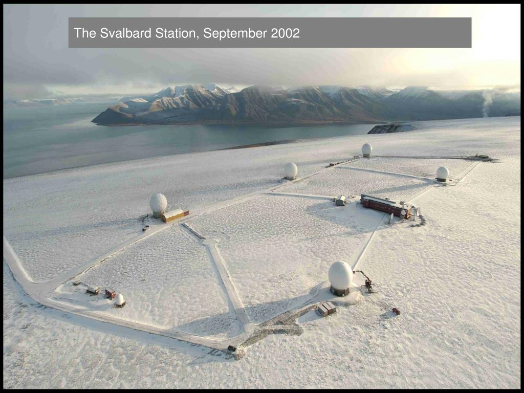 The Svalbard Station, September 2002