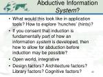 abductive information system