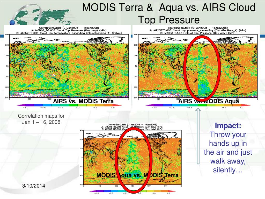 MODIS Terra &  Aqua vs. AIRS Cloud Top Pressure
