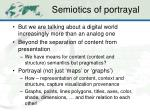 semiotics of portrayal