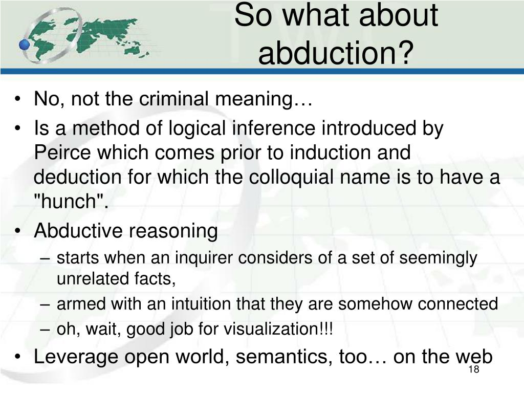 So what about abduction?