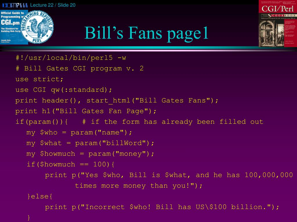 Bill's Fans page1