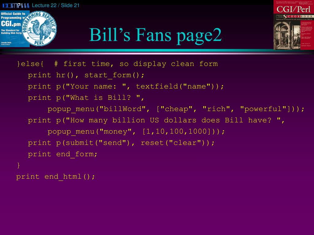 Bill's Fans page2