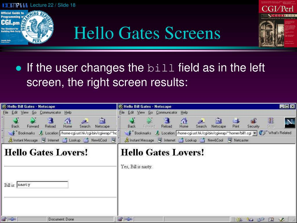 Hello Gates Screens