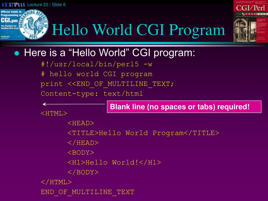 Hello World CGI Program